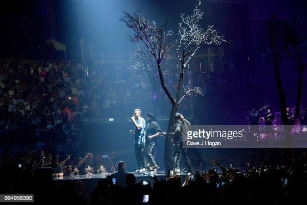 Justin Timberlake performs at The O2 Arena on July 9 2018 in London England