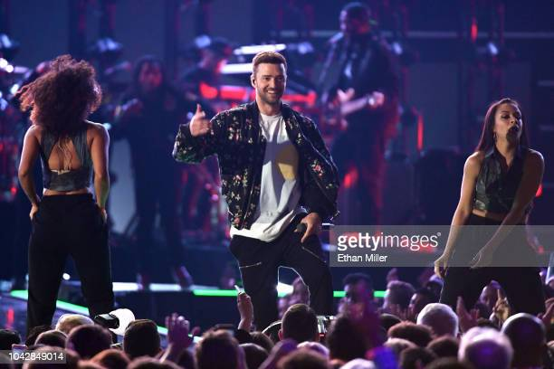 Justin Timberlake performs during the 2018 iHeartRadio Music Festival at TMobile Arena on September 22 2018 in Las Vegas Nevada