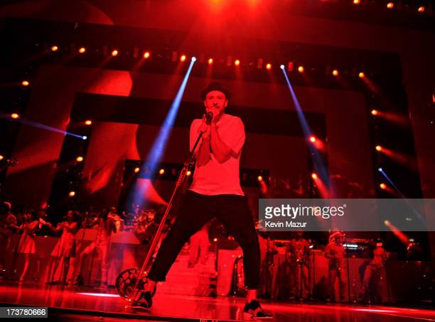 Justin Timberlake performs during the Legends of the Summer tour at Rogers Centre on July 17 2013 in Toronto Canada