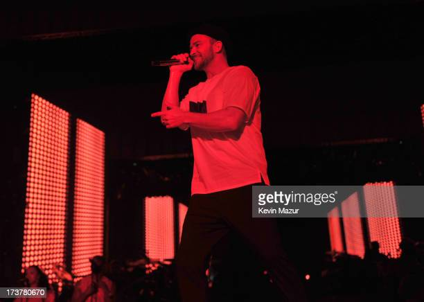 Justin Timberlake performs during the Legends of the Summer tour at Rogers Centre on July 17, 2013 in Toronto, Canada.