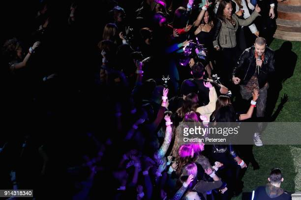 Justin Timberlake performs during the Pepsi Super Bowl LII Halftime Show at US Bank Stadium on February 4 2018 in Minneapolis Minnesota