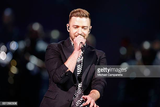 Justin Timberlake performs his new single Can't Stop The Feeling at the Ericsson Globe on May 14 2016 in Stockholm Sweden