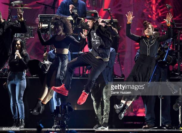 AWARDS 2018 *** Justin Timberlake performs on stage at The BRIT Awards 2018 held at The O2 Arena on February 21 2018 in London England