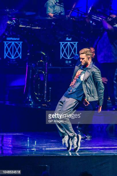 Justin Timberlake performs on stage during The Man of the Woods Tour at Scotiabank Arena on October 9 2018 in Toronto Canada