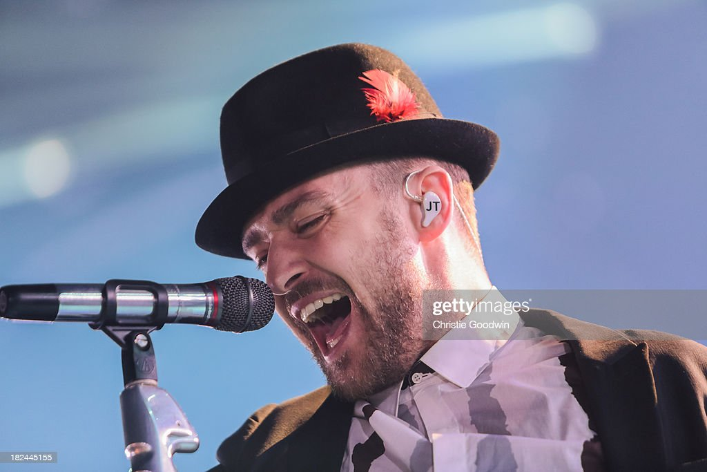 Justin Timberlake performs on stage on Day 29 of iTunes Festival 2013 at The Roundhouse on September 29, 2013 in London, England.