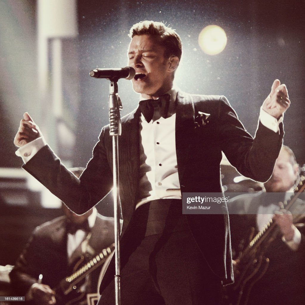Justin Timberlake performs onstage during the 55th Annual GRAMMY Awards at STAPLES Center on February 10, 2013 in Los Angeles, California.