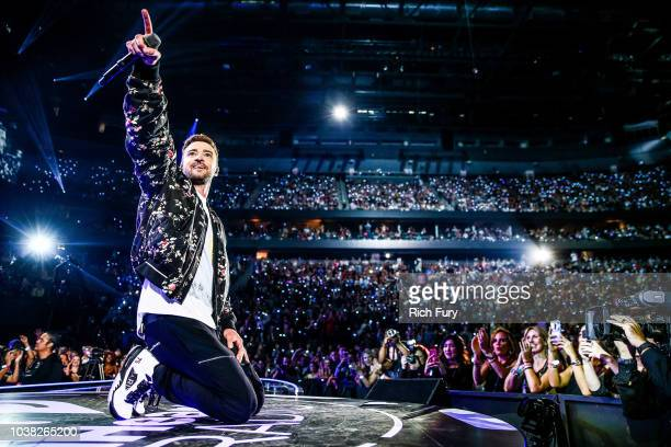 Justin Timberlake performs onstage during the iHeartRadio Music Festival at TMobile Arena on September 22 2018 in Las Vegas Nevada