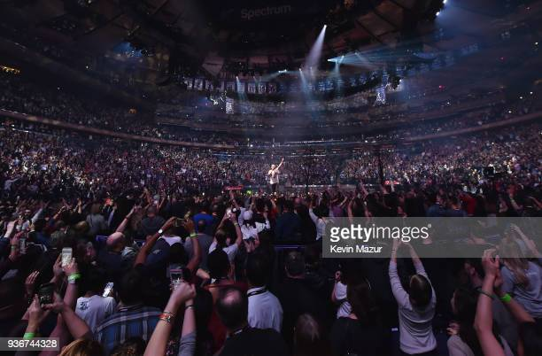 Justin Timberlake performs onstage during The Man of the Woods Tour at Madison Square Garden on March 22 2018 in New York City
