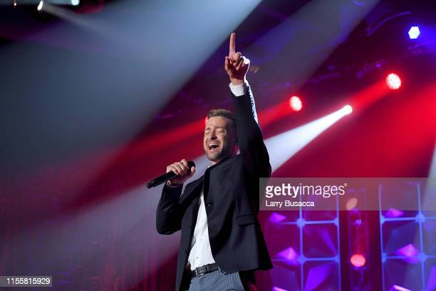 Justin Timberlake performs onstage during the Songwriters Hall Of Fame 50th Annual Induction And Awards Dinner at The New York Marriott Marquis on...