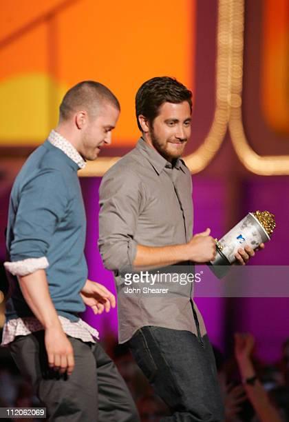 Justin Timberlake presenter and Jake Gyllenhaal winner of Best Kiss for Brokeback Mountain