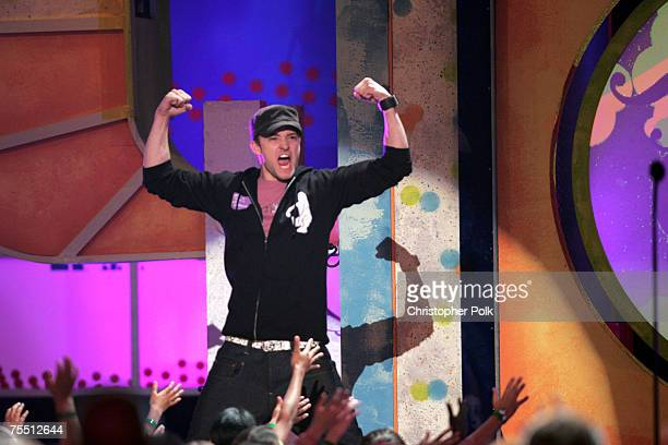 Justin Timberlake presents Celebrity Hidden Talent at the Nickelodeon's 18th Annual Kids Choice Awards Show at Pauley Pavilion in Los Angeles...