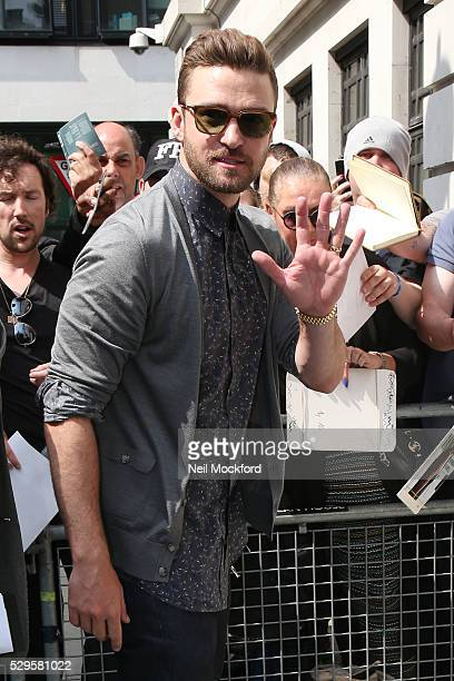 Justin Timberlake seen at BBC Radio 2 on May 09 2016 in London England