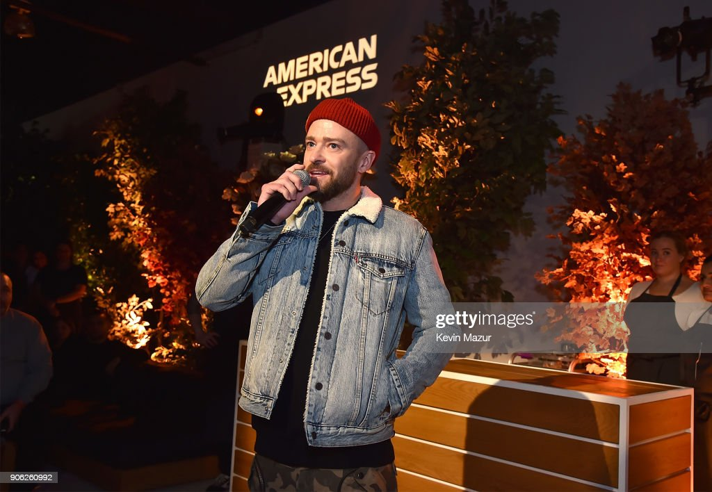 Justin Timberlake speaks during American Express x Justin Timberlake 'Man Of The Woods' listening session at Skylight Clarkson Sq on January 17, 2018 in New York City.