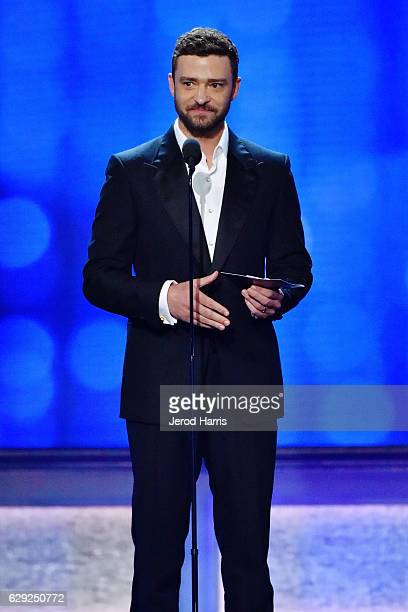 Justin Timberlake speaks onstage during the 22nd Annual Critics' Choice Awards at Barker Hangar on December 11 2016 in Santa Monica California