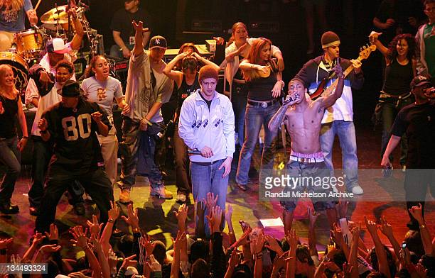 Justin Timberlake took the stage at the Wiltern Theatre with NERD and the BlackEyed Peas