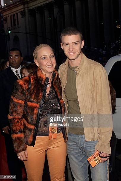 Justin Timberlake with his mother at the Michael Jackson 30th Anniversary Celebration The Solo Years at Madison Square Garden in New York City...