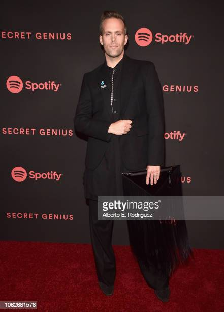 Justin Tranter attends Spotify's Secret Genius Awards hosted by NEYO at The Theatre at Ace Hotel on November 16 2018 in Los Angeles California