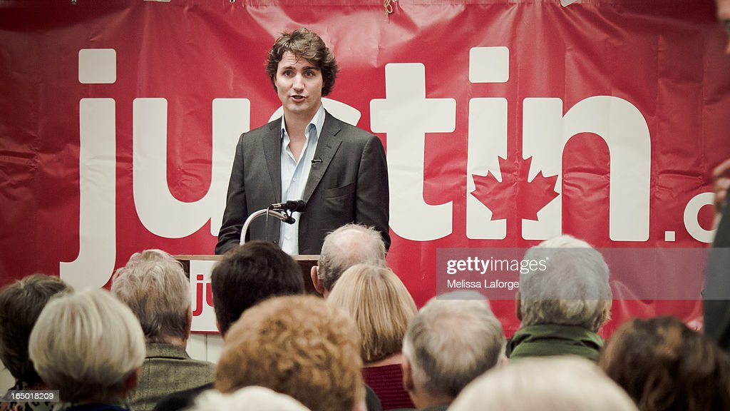 CONTENT] Justin Trudeau campaigns for Canada's Federal Liberal Leadership in the fall of 2012, culminating his impressive race in April, 2013. Justin follows in his father's (Pierre Elliot Trudeau) footsteps, seeking to be Canada's future Liberal Leader, and ultimately Canada's Prime Minister. Taken early on the campaign trail in Glen Williams, Ontario, speaking to a small gathering in a church basement.