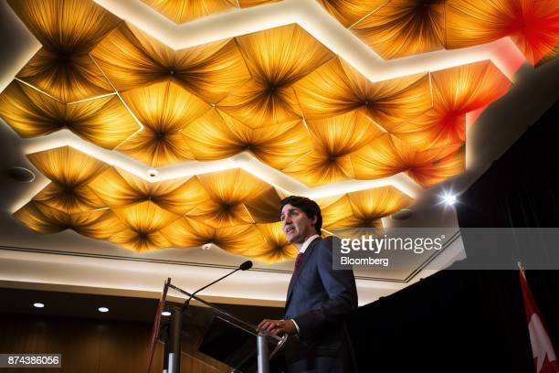 Justin Trudeau Canada's prime minister speaks during a Liberal Party fundraiser event in Vancouver British Columbia Canada on Tuesday Nov 14 2017...