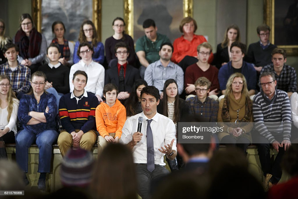 Canadian Prime Minister Justin Trudeau Holds Town Hall Event : News Photo
