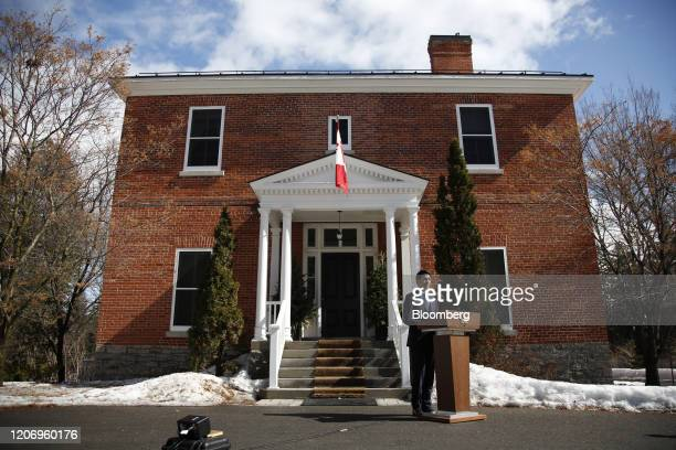Justin Trudeau Canada's prime minister speaks to members of the media outside of his residence at Rideau Cottage in Ottawa Ontario Canada on Friday...