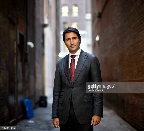 Justin Trudeau photographed in downtown Toronto following an interview regarding his memoir 'Common Ground'
