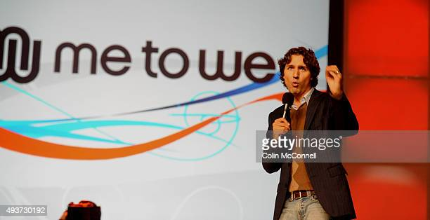 Justin trudeau speaking around 8000 youth gathered for global change at free the childrens national me to we day speakers like mia farrow and justin...
