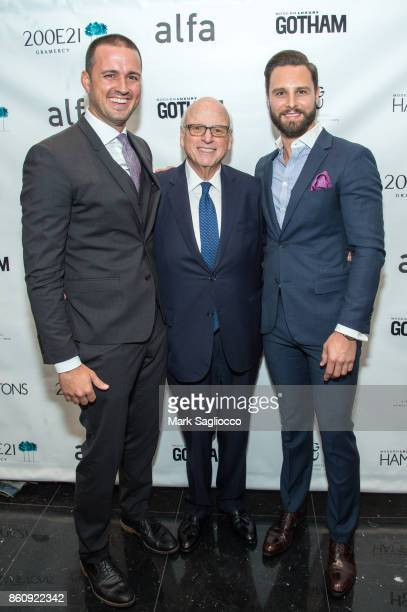 Justin Tuinstra Howard Lorber and Glenn Davis attend the Alfa Development Launch Celebration on October 12 2017 in New York City