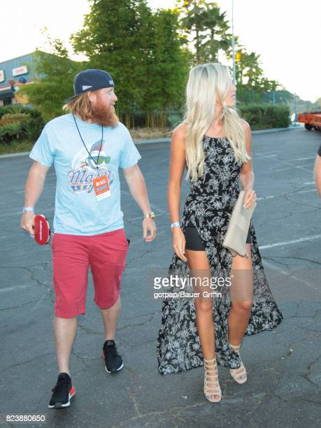 Justin Turner and Kourtney Elizabeth are seen on July 27 2017 in Los Angeles California