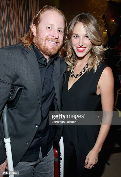 Justin Turner and Kourtney Elizabeth attend the launch of WE tv's David Tutera CELEBrations and Casa Mexico Tequila on November 6 2015 in Hollywood...