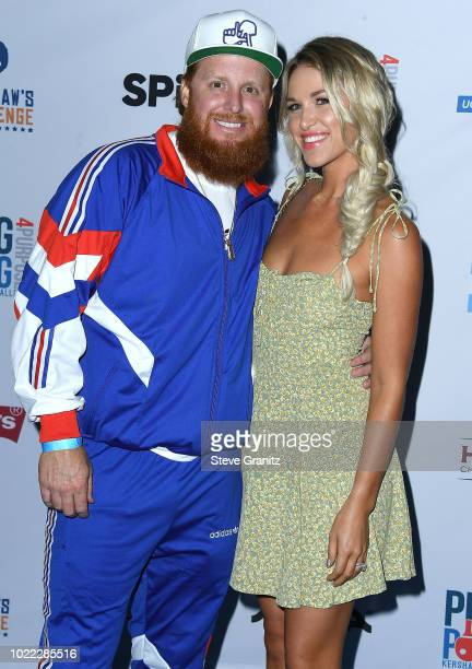 Justin Turner arrives at the 6th Annual PingPong4Purpose at Dodger Stadium on August 23 2018 in Los Angeles California