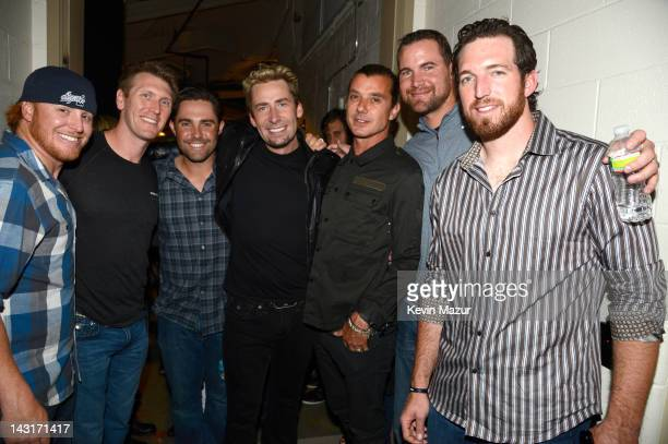 Justin Turner of New York Mets Jason Bay of New York Mets Mike Nickeas of New York Mets Chad Kroeger of Nickelback Gavin Rossdale of Bush Mike...