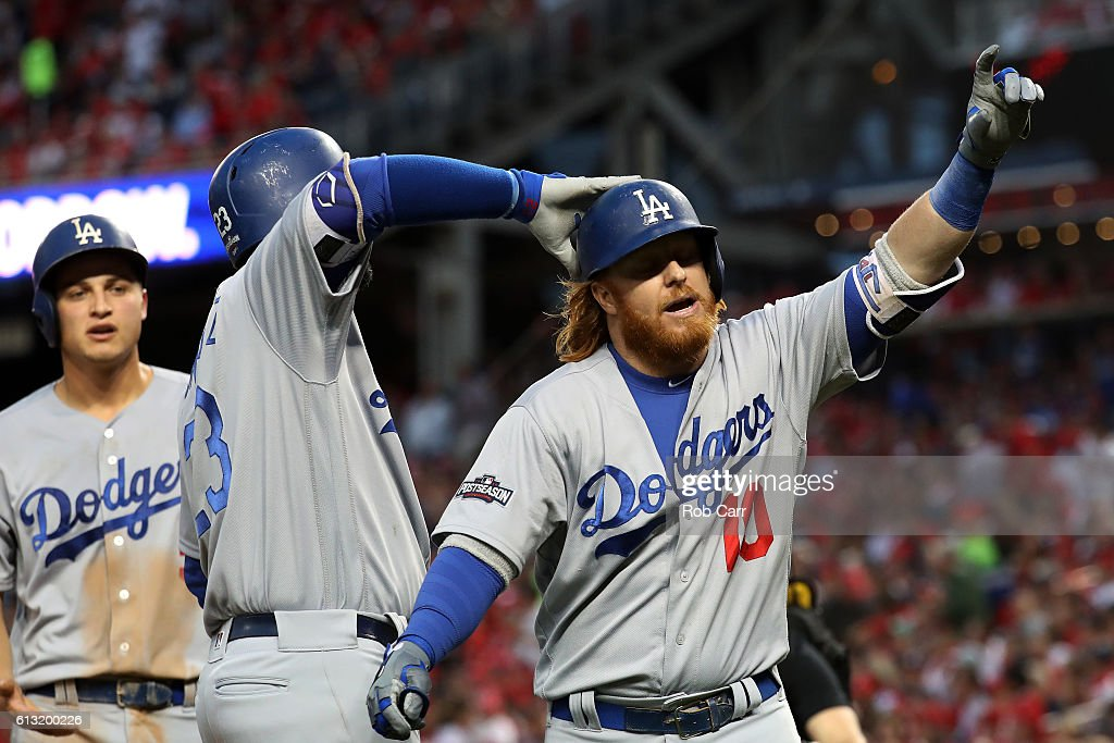 Division Series - Los Angeles Dodgers v Washington Nationals - Game One : News Photo