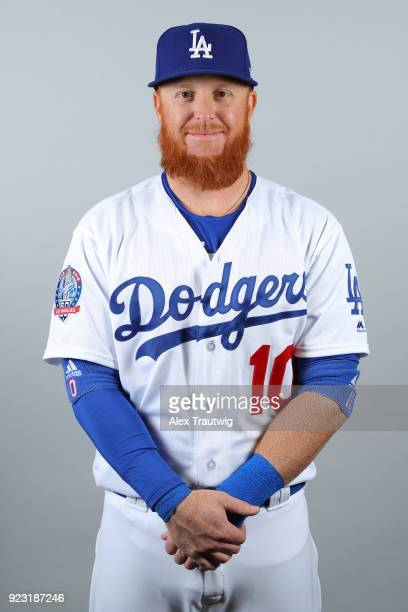 Justin Turner of the Los Angeles Dodgers poses during Photo Day on Thursday February 22 2018 at Camelback Ranch in Glendale Arizona