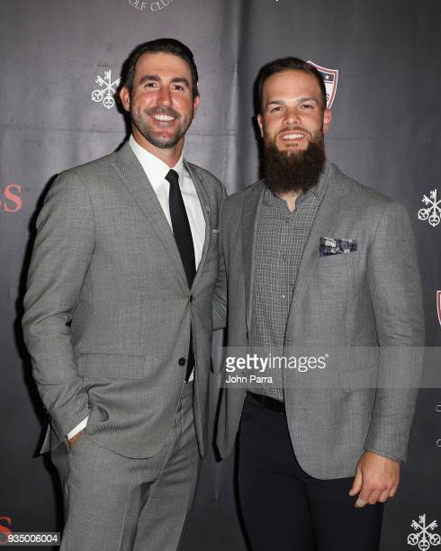 GARDENS FL Justin Verlander and Dallas Keuchel attend the Kate Upton Justin Verlander 'Uncork For A Cause' To Benefit Wins For Warriors Foundation at...