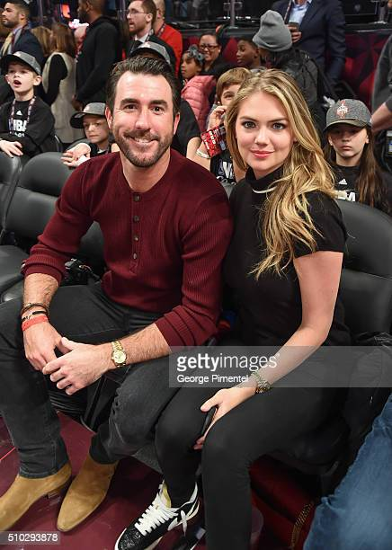 Justin Verlander and Kate Upton attend the 2016 NBA AllStar Game at Air Canada Centre on February 14 2016 in Toronto Canada