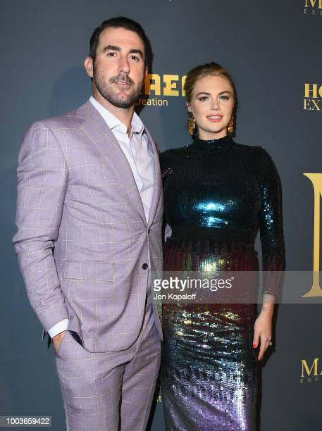 Justin Verlander and Kate Upton attend The Maxim Hot 100 Experience at Hollywood Palladium on July 21 2018 in Los Angeles California
