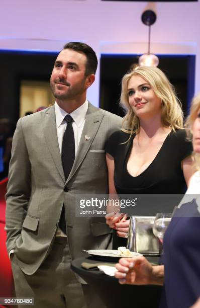 Justin Verlander and Kate Upton attend Uncork For A Cause To Benefit Wins For Warriors Foundation at Old Marsh Golf Club on March 19 2018 in Palm...