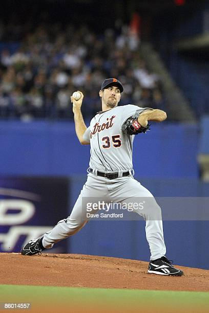 Justin Verlander of the Detroit Tigers delivers the pitch during the Opening Day game against the Toronto Blue Jays at the Rogers Centre April 6 2009...