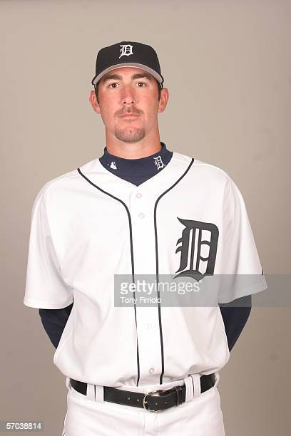 Justin Verlander of the Detroit Tigers during photo day at Marchant Stadium on February 26 2006 in Lakeland Florida