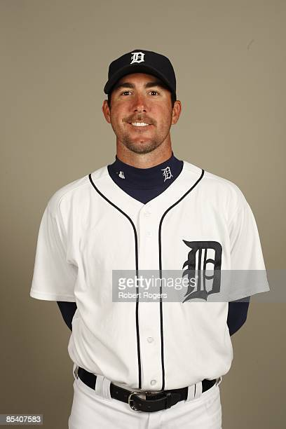 Justin Verlander of the Detroit Tigers poses during Photo Day on Saturday February 21 2009 at Joker Marchant Stadium in Lakeland Florida