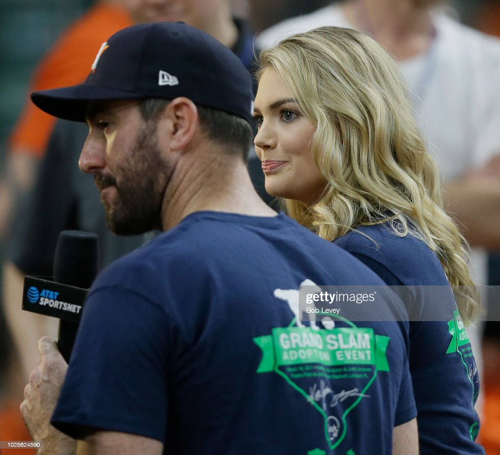 new style 57edf 87eb7 Justin Verlander of the Hoouston Astros and wife Kate Upton ...