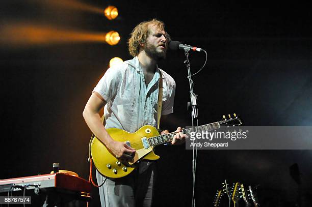 Justin Vernon aka Bon Iver performs on stage as part of the Serpentine Sessions 2009 in Hyde Park on June 30 2009 in London England