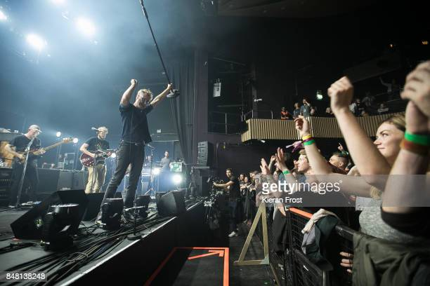 Justin Vernon and Matt Berninger of The National performs at Cork Opera House as part of Sounds From A Safe Harbour festival on September 16 2017 in...