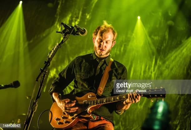 Justin Vernon from Bon Iver performs at L'Olympia on July 15 2012 in Paris France