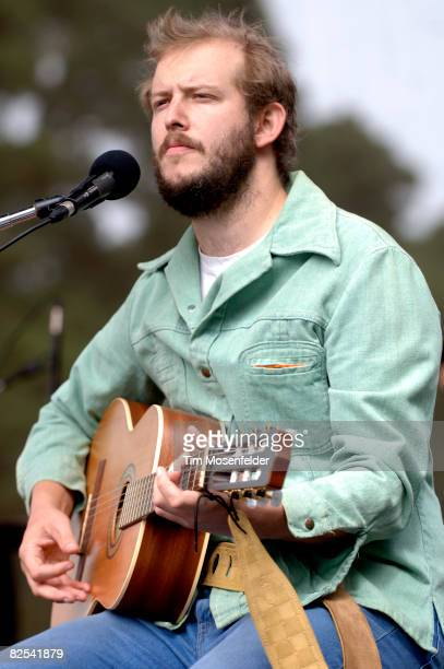 Justin Vernon of Bon Iver performs as part of the Outside Lands Music Art Festival at Golden Gate Park on August 24 2008 in San Francisco California