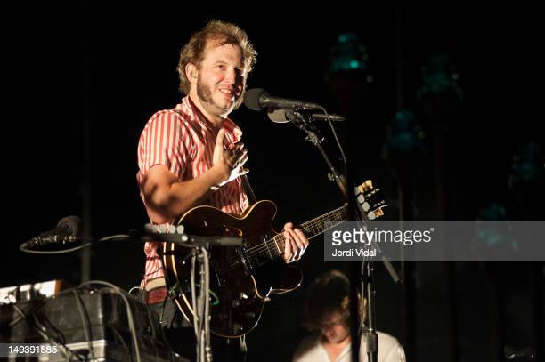 Justin Vernon of Bon Iver performs at Poble Espanyol on July 27 2012 in Barcelona Spain