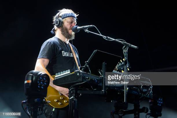 Justin Vernon of Bon Iver performs during the All Points East Festival at Victoria Park on June 02 2019 in London England
