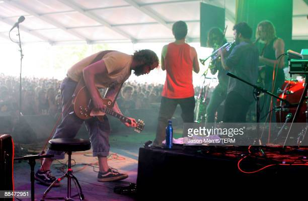Justin Vernon of Bon Iver performs on stage during Bonnaroo 2009 on June 13, 2009 in Manchester, Tennessee.