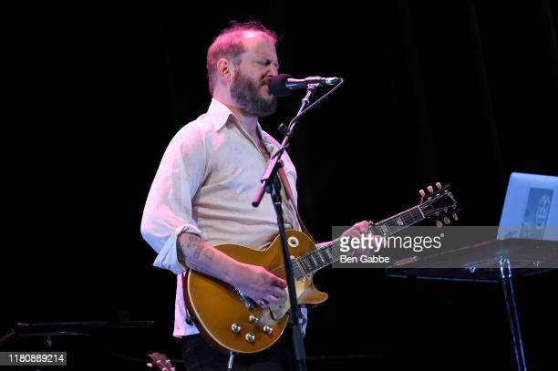 Justin Vernon of Bon Iver performs on stage during the 2019 New Yorker Festival on October 13 2019 in New York City